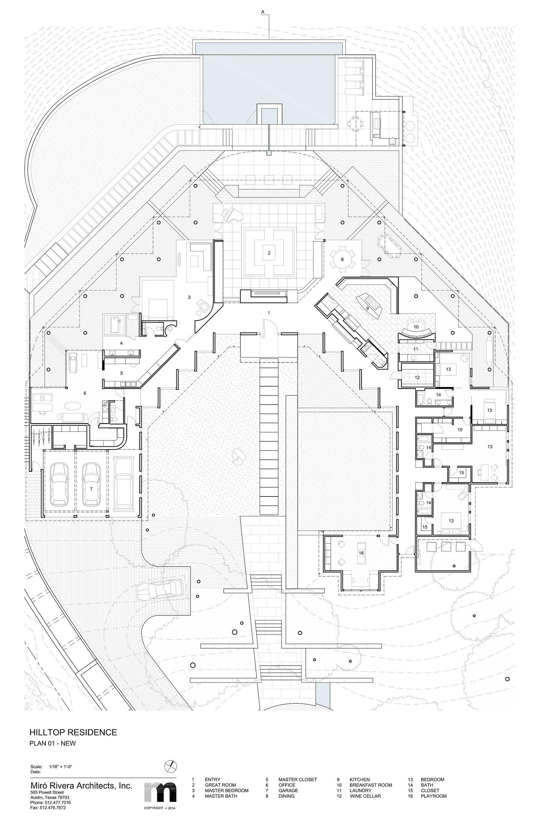 Floor plan of Hilltop Residence after renovation