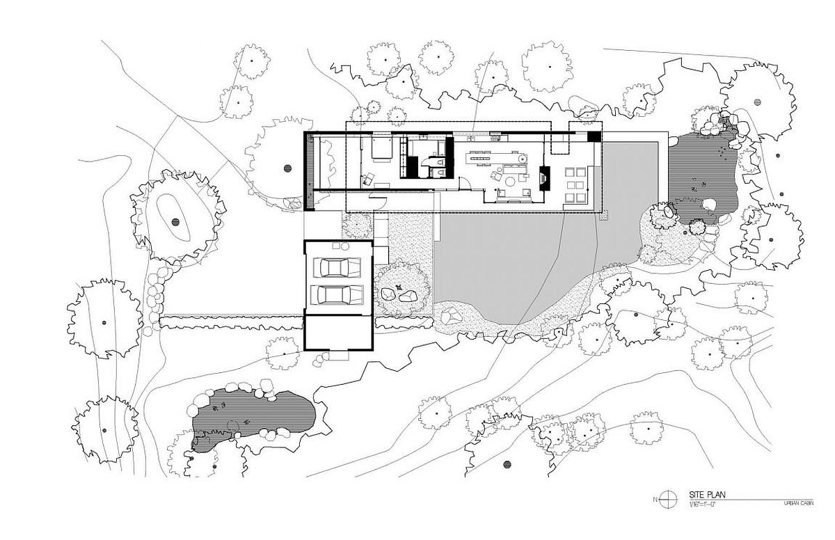 Floor plan of serene urban retirement home in Seattle