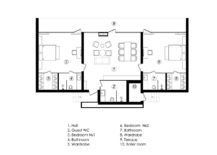 Floor plan of the contemporary chalet in woods