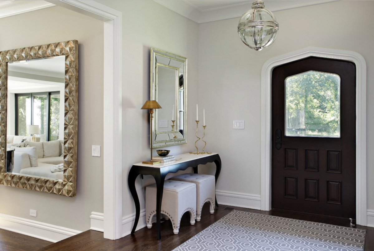 Beautiful View In Gallery Foyer With A Console Table Via 2 Design Group