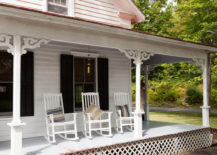 Front porch with rocking chairs 217x155 Porch vs. Patio: Your Design Questions Answered