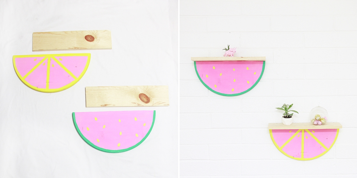 Fruit slice shelves from A Bubbly Life