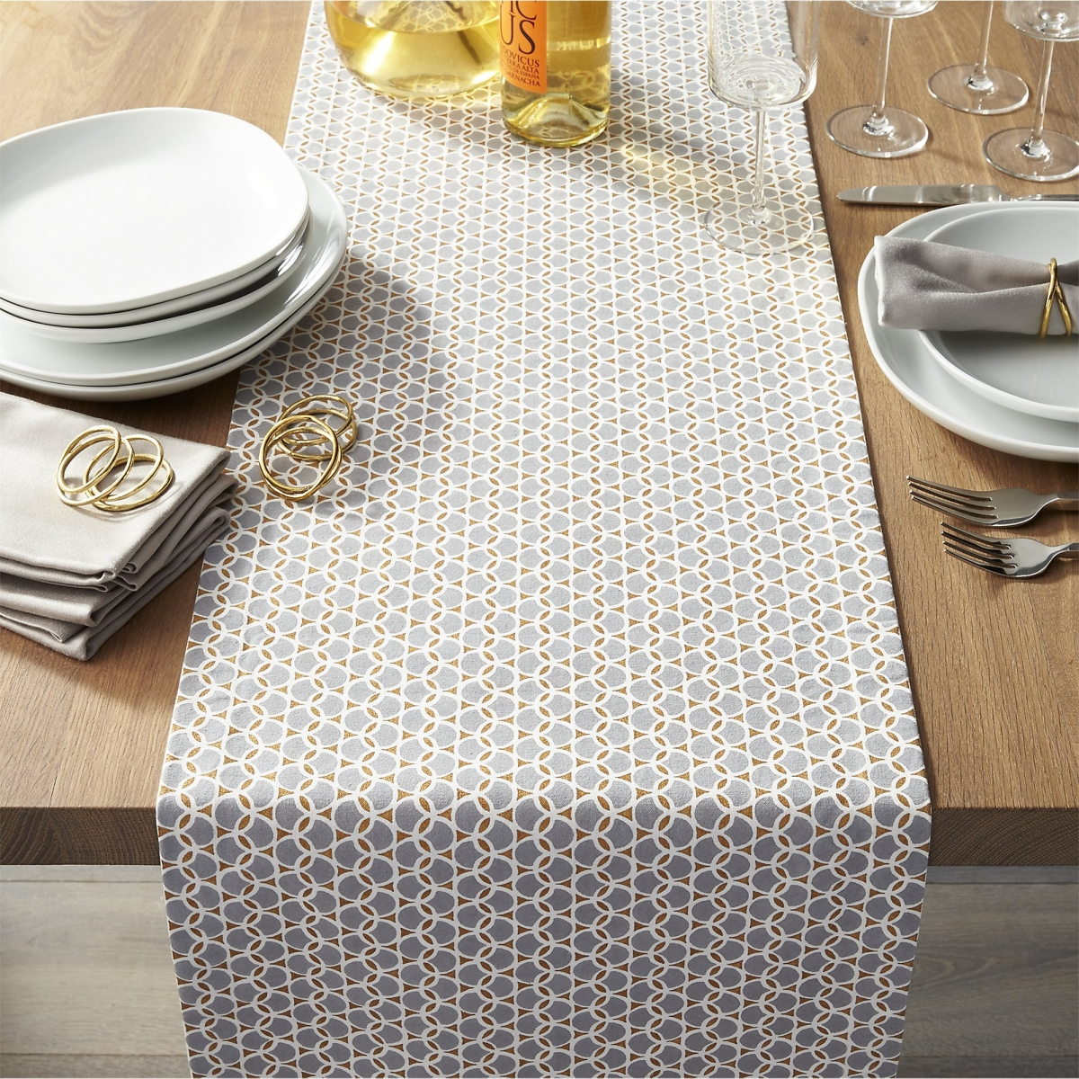 Geometric table runner from Crate & Barrel
