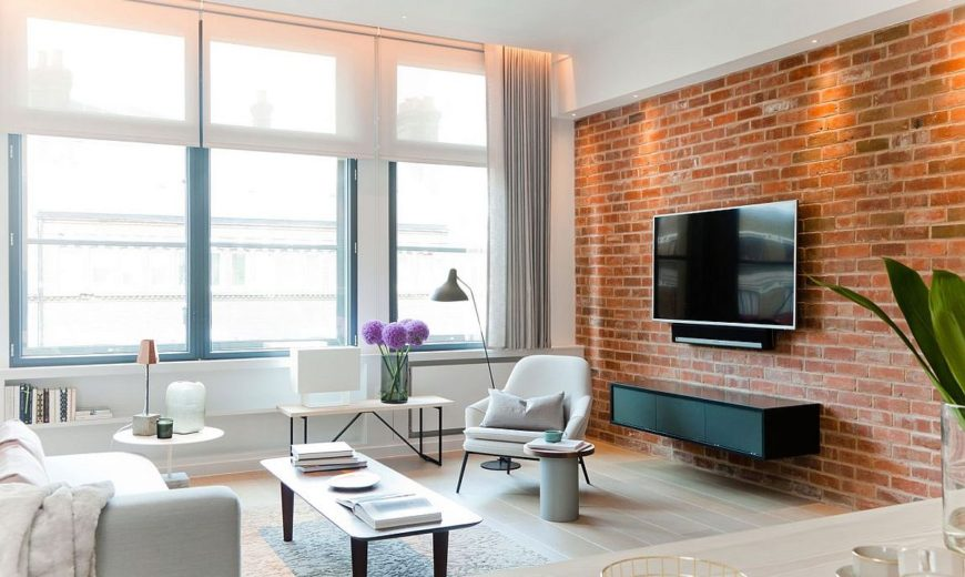 NYC Loft-Style Penthouse with Brick Walls Takes Shape in London