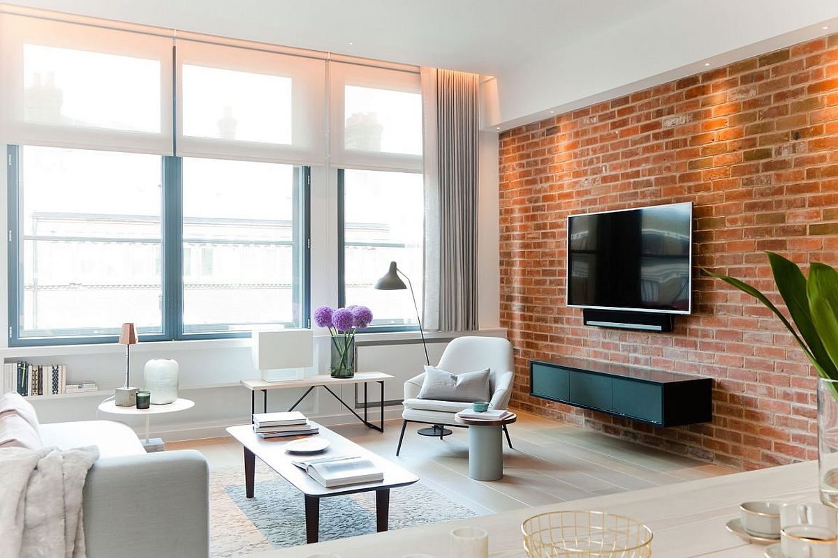 Nyc Loft Style Penthouse With Brick Walls Takes Shape In