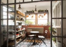 Greenhouse pantry cooking station and sunroom rolled into one 217x155 Edgy and Exquisite: 20 Industrial Sunrooms with Modern Sheen