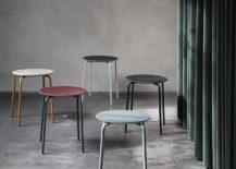 Grey walls offset modern stools from ferm LIVING