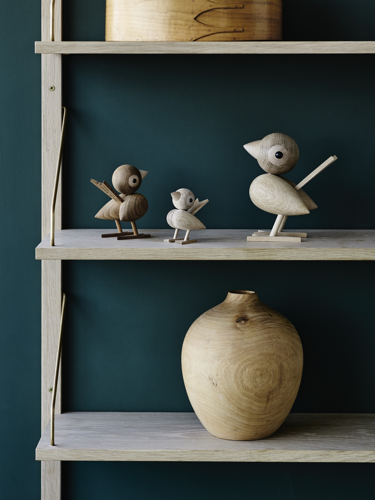Gunnar Flørning's sparrow (1958) is available in three sizes – 8cm, 12cm & 18cm – in teak and oak.