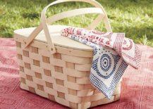 Handcrafted picnic basket