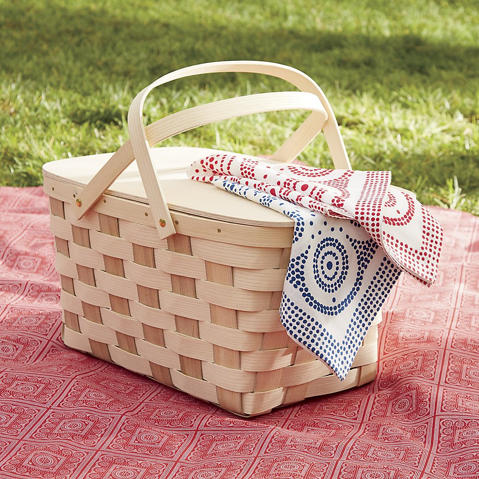 Handcrafted picnic basket