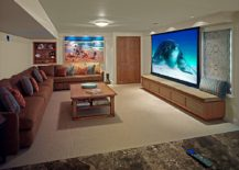 Image from the trip to the beach stands out in this home theater