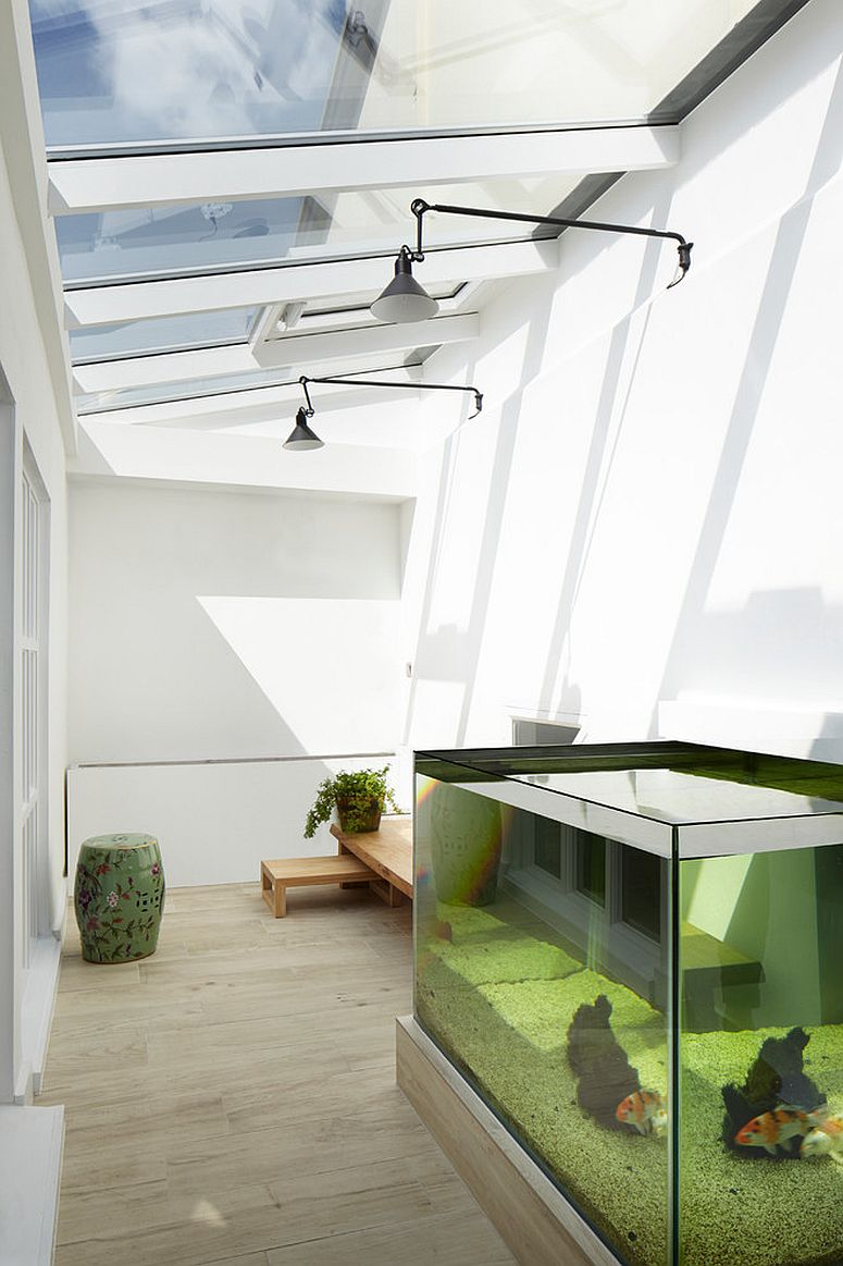 Industrial chic sunroom in white with glass ceiling [Design: KWB Building Services Limited]