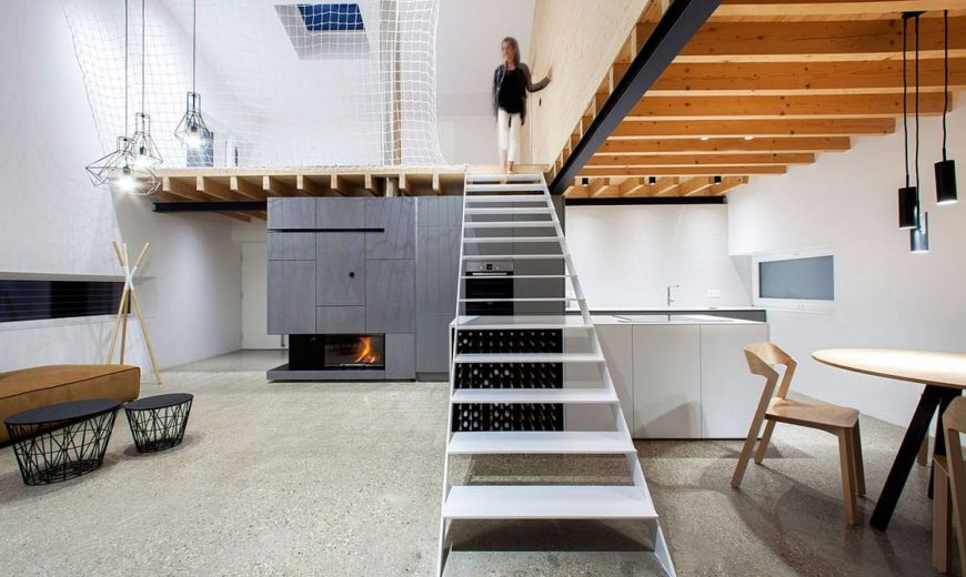 Space-Savvy Home in Slovakia Cleverly Utilizes Its Mezzanine Level