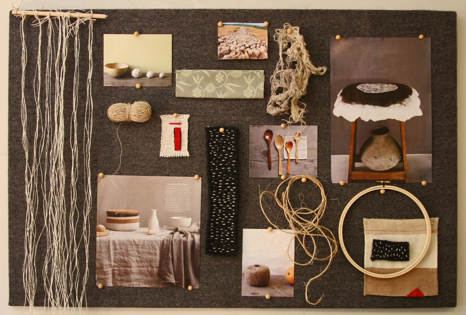 Inspiration board by Caroline Brealey