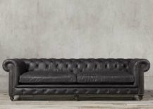 Kensington Leather Sofa with button tufting