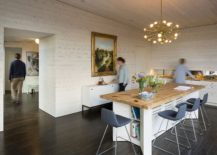 Kitchen and dining are of the James River House