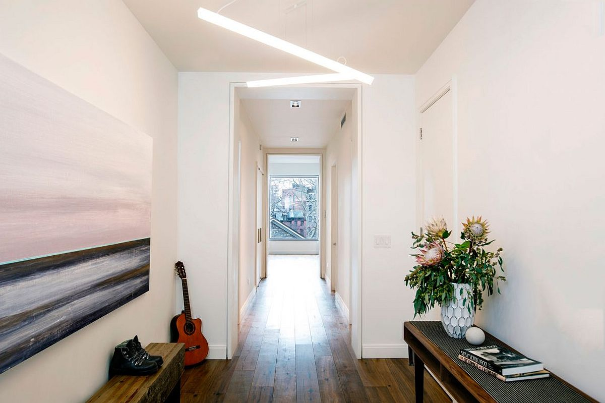 Large foyer of New York City Apartment in East Village