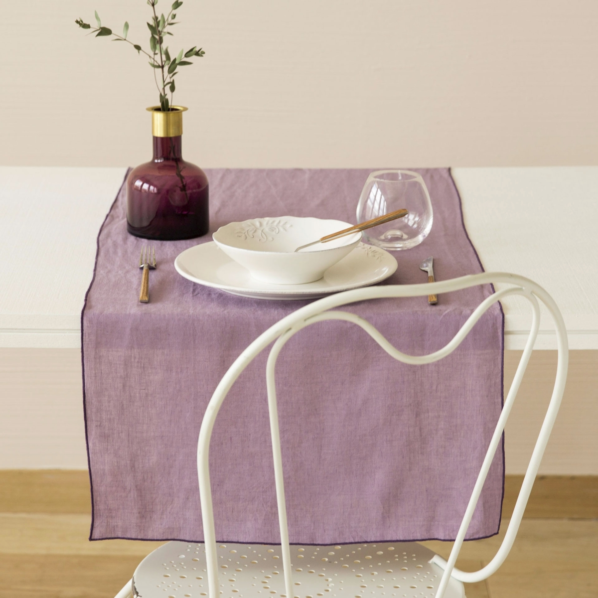 Linen table runner from Zara Home