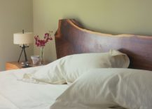 Live-Edge Wood headboard is an absolute showstopper