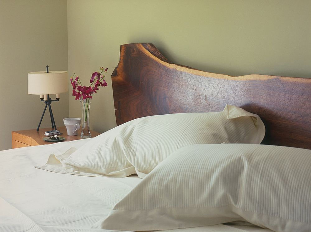 Live-Edge Wood headboard is an absolute showstopper [Design: Dufner Heighes Inc]