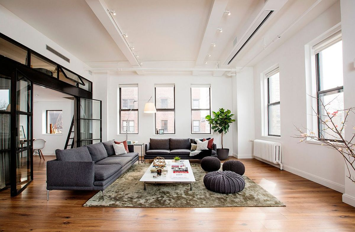 East village loft this nyc apartment was once a small for Living room nyc