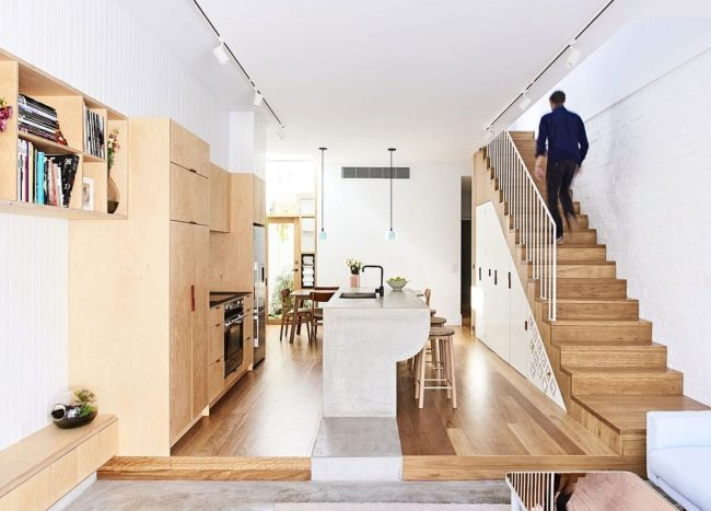 An Interactive Setting: Renovated Modern Terrace House in Melbourne