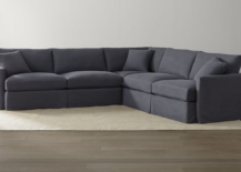 Lounge II Petite Slipcovered 3 Piece Sectional in Twilight 217x155 Sofa vs. Couch: the Great Seating Debate