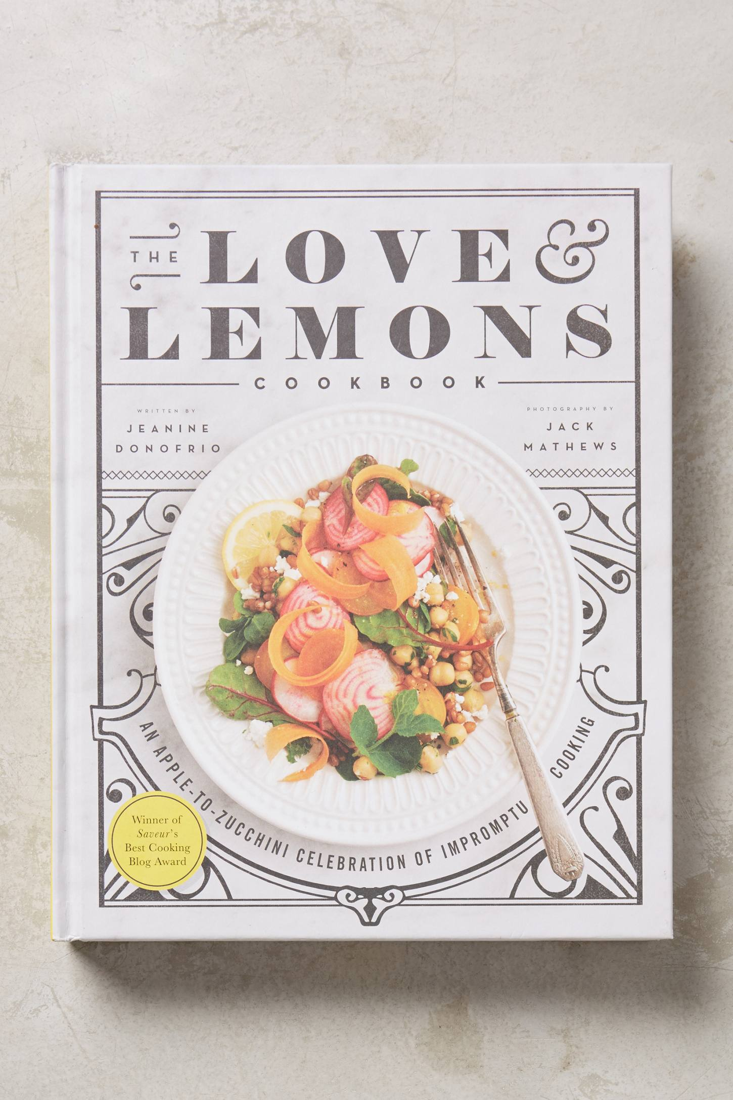 Love and Lemons cookbook from Anthropologie