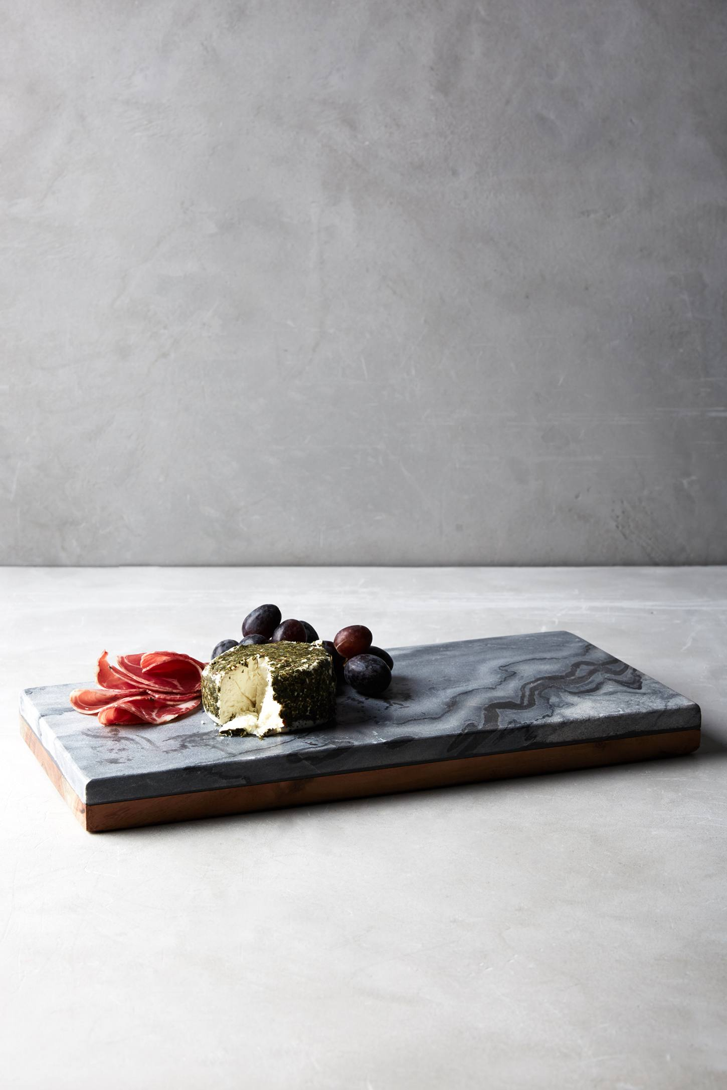 Marble and acacia wood serving board from Anthropologie