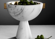 Marble vessel from Apparatus 217x155 Design Tips for Rooms with Grey Walls