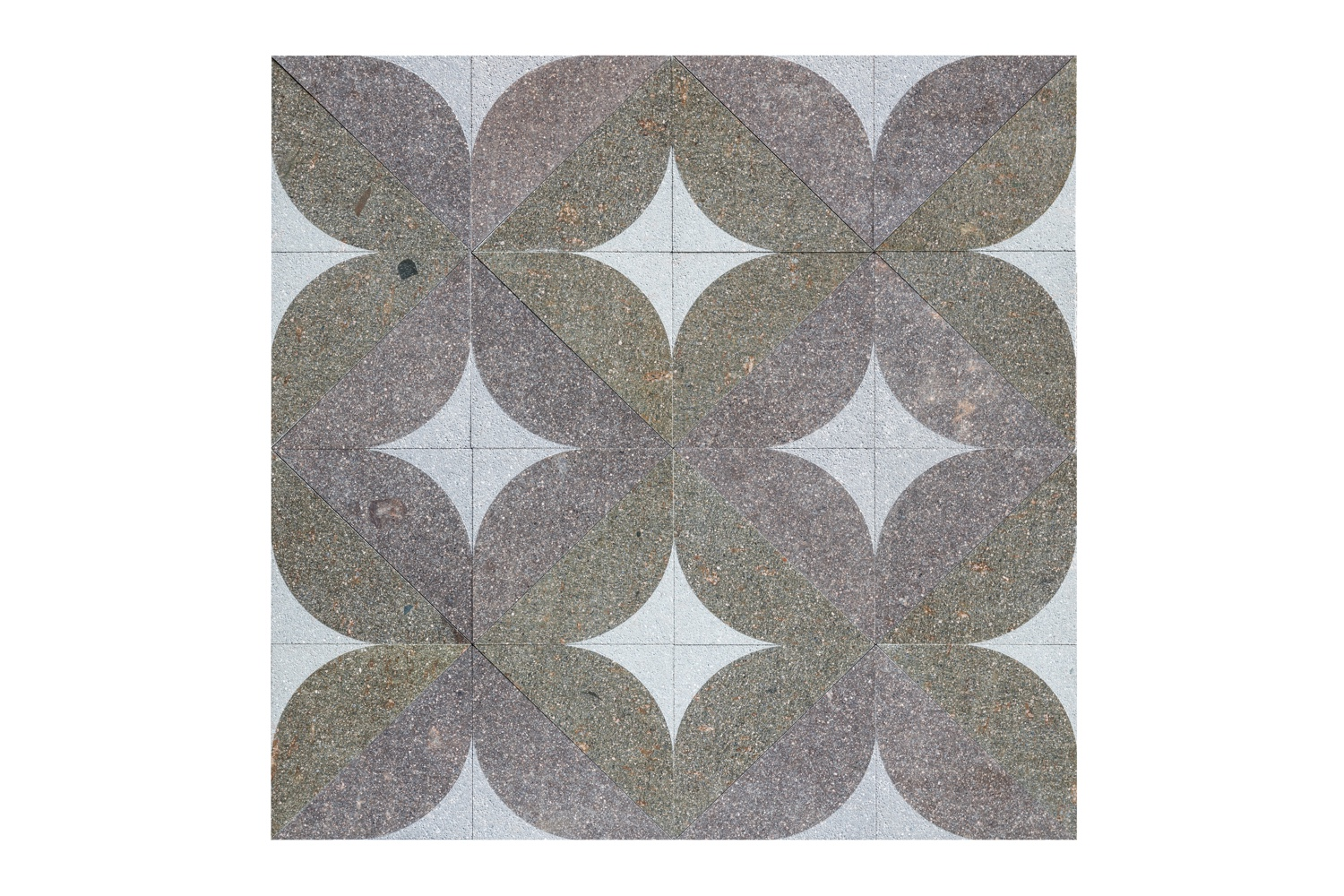 Marquetry tile by Giles Miller and Euro Porfidi.