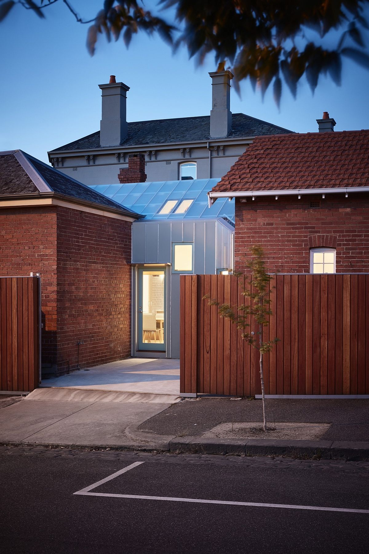 Modern addition to the classic Mebourne home gives it a unique facade