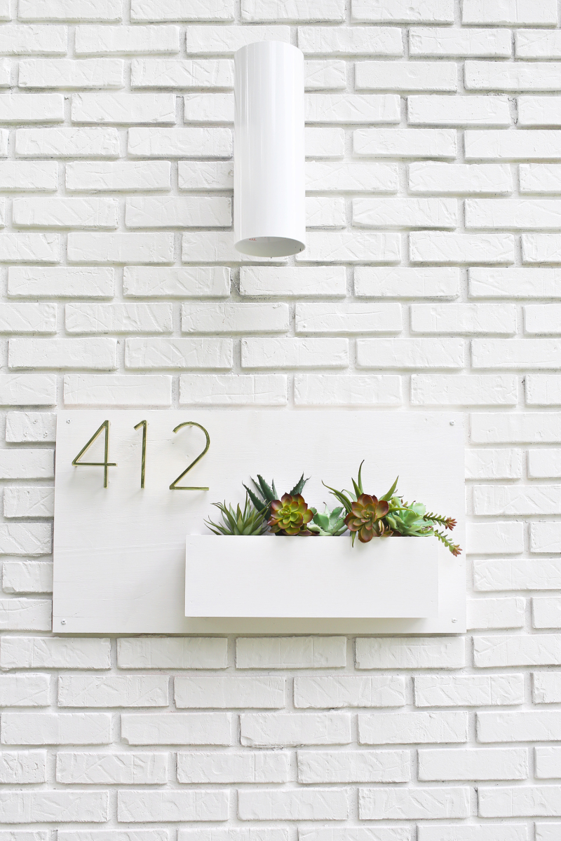Modern address planter from A Beautiful Mess