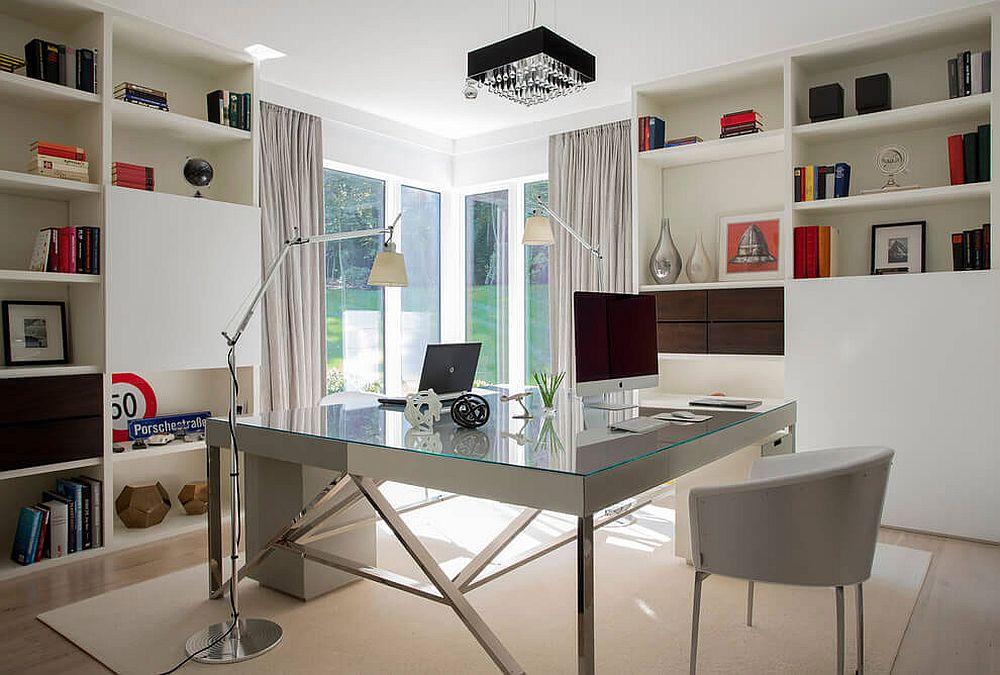 Modern home office with wonderful garden views