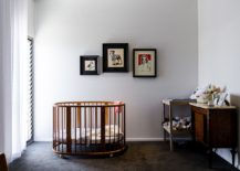 Modern industrial nursery in white and steely gray