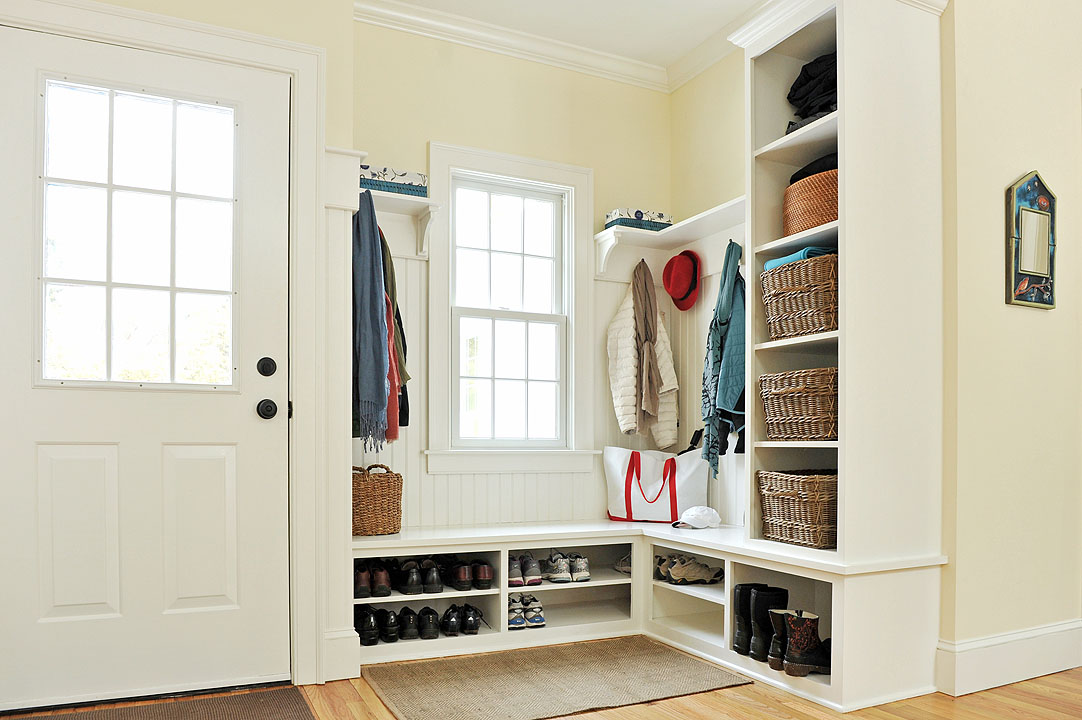 Mudroom style via Herbert Design Build