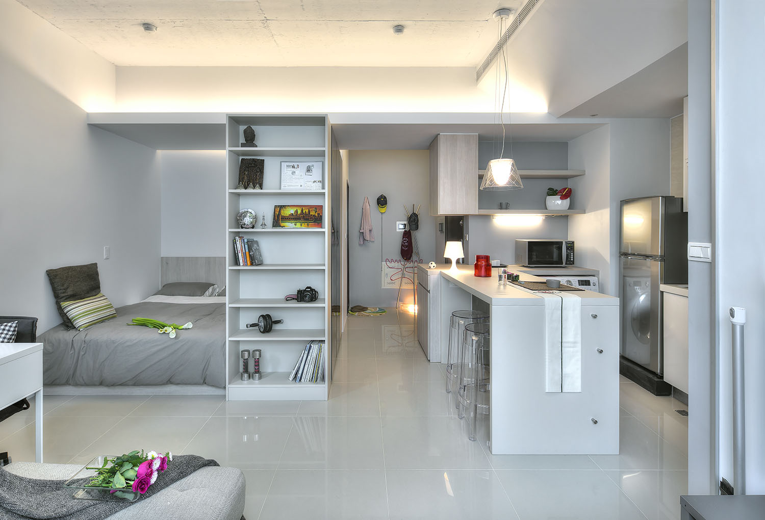 What is a studio apartment for 45m2 apartment design