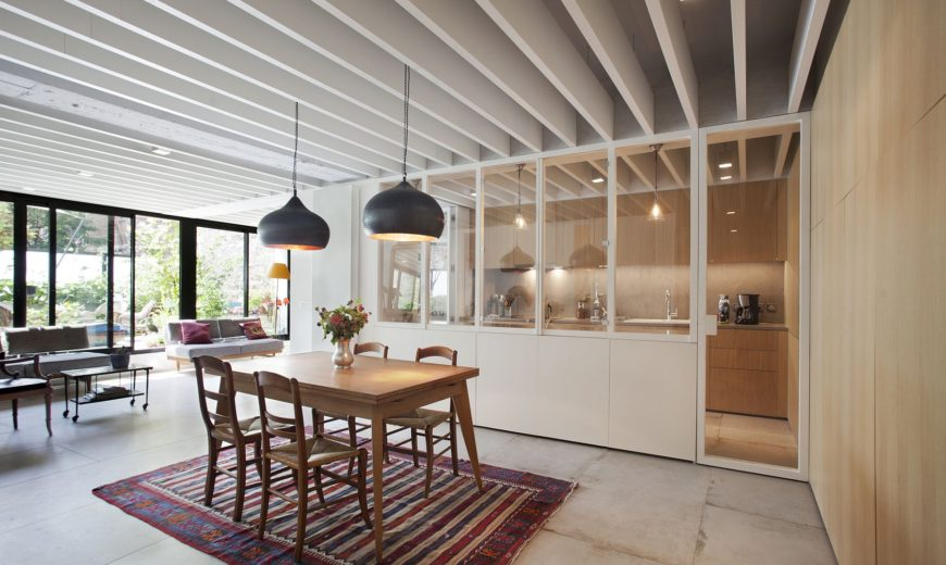 From Parking Lot to Pleasing Interiors: Industrial Modern Apartment in Paris