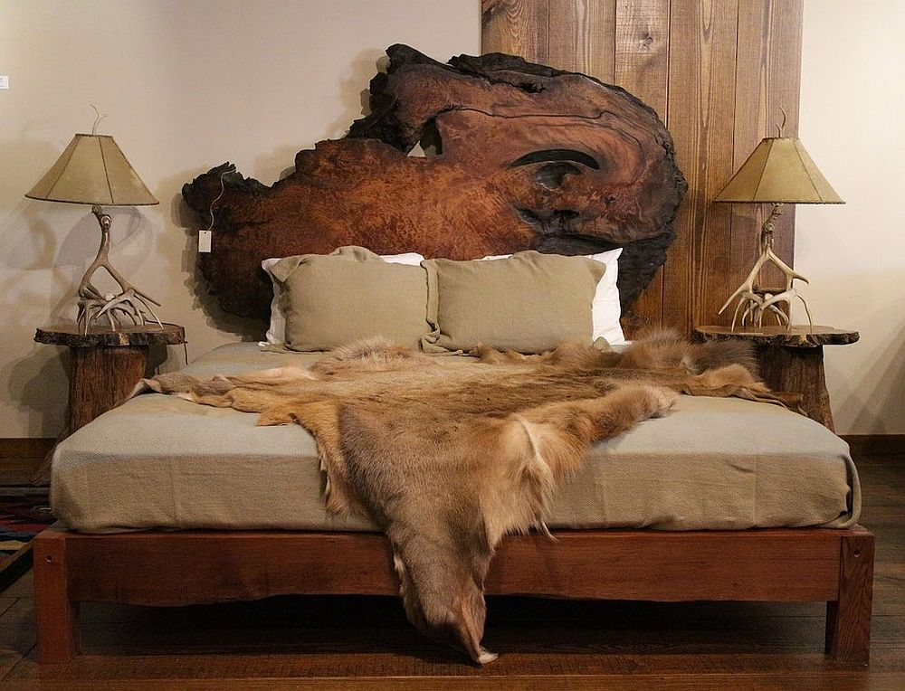 25 reasons to fall in love with a live edge headboard for Camas rusticas