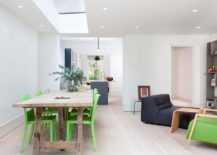 Open living area and kitchen of refurbished London home