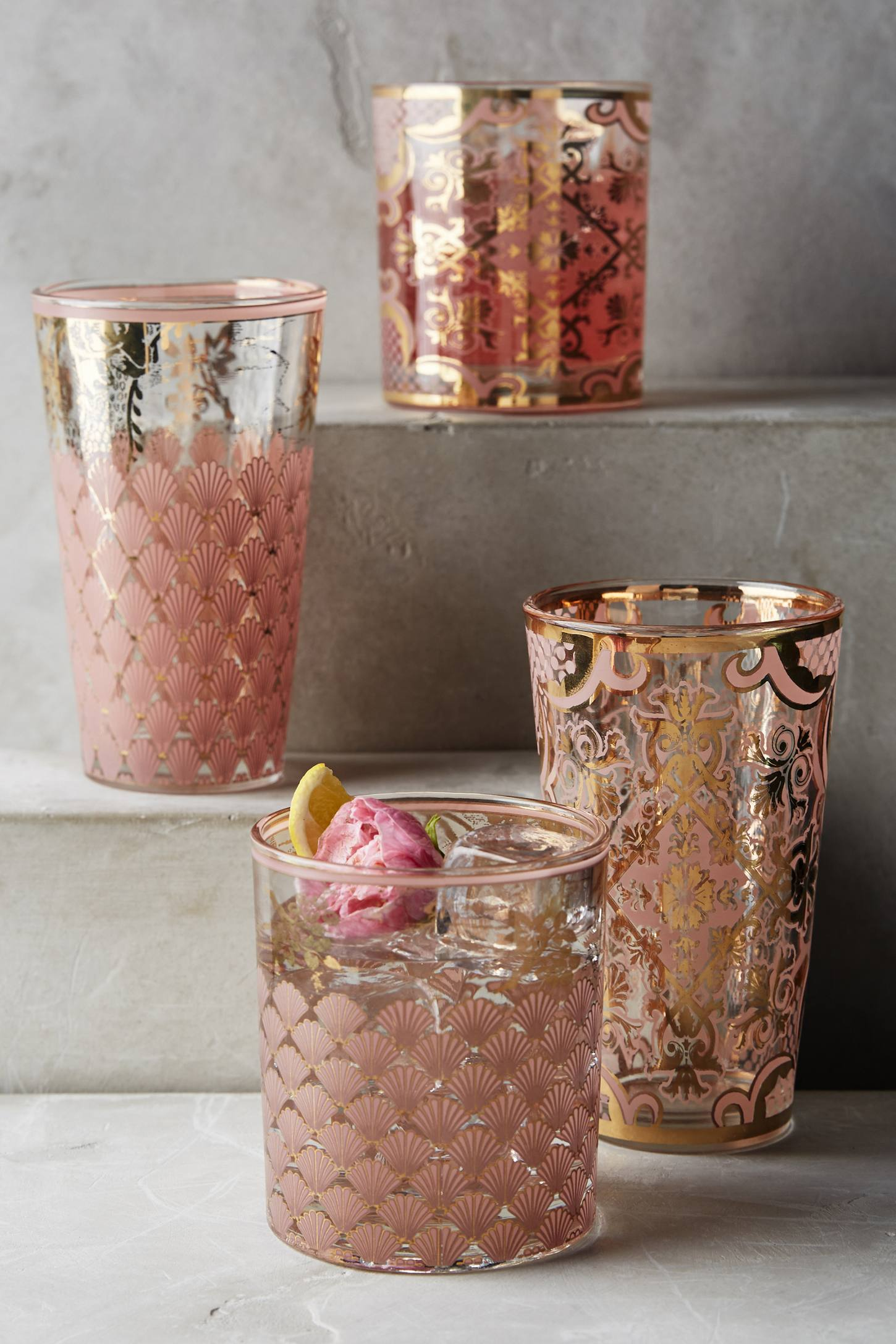Patterned glassware from Anthropologie