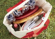 Picnic tote with key essentials
