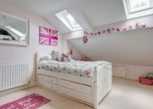Pink and white shabby chic kids' bedroom