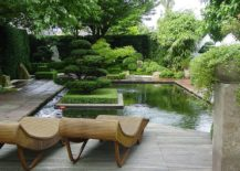 Private garden in Germany with Asian style