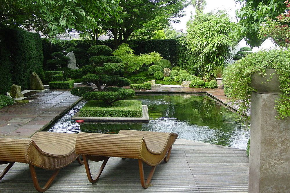 Private garden in Germany with Asian style [Design: Japan Garten Kultur]