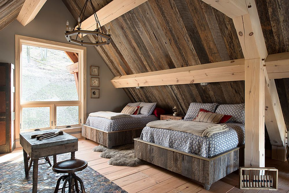 Reclaimed wood is the star of this rustic bedroom [From: Timberbuilt]
