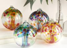 Recycled glass globes make a holiday statement 217x155 Seasonal Decor: Take Your Interior from Summer to Fall
