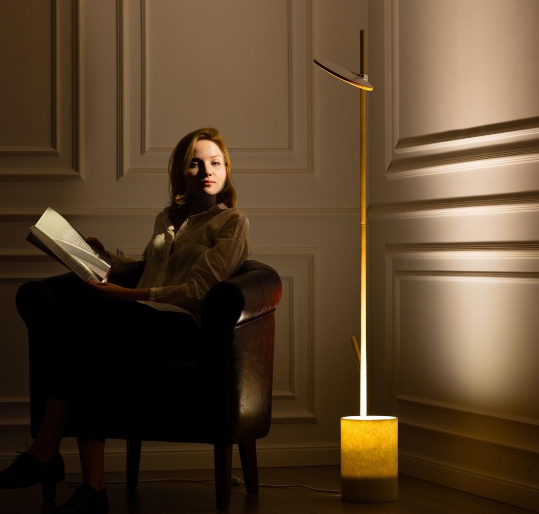 Reflects floor lamp by Anastasia Leonova.