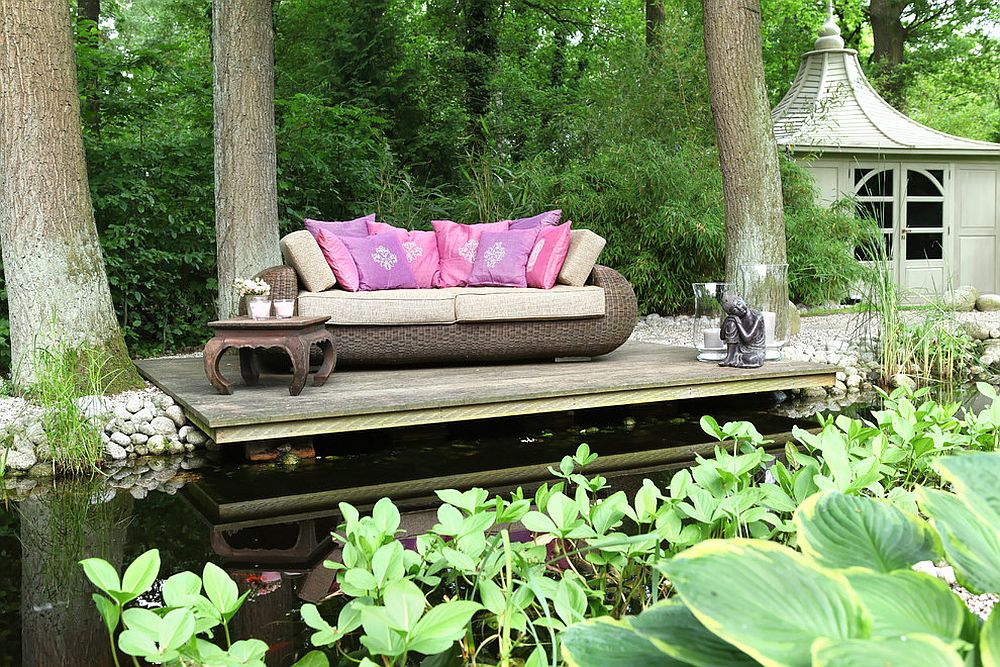 Serenity and rejuvenation can be easily found in a relaxing garden like this! [Design: Feng Shui Planung]