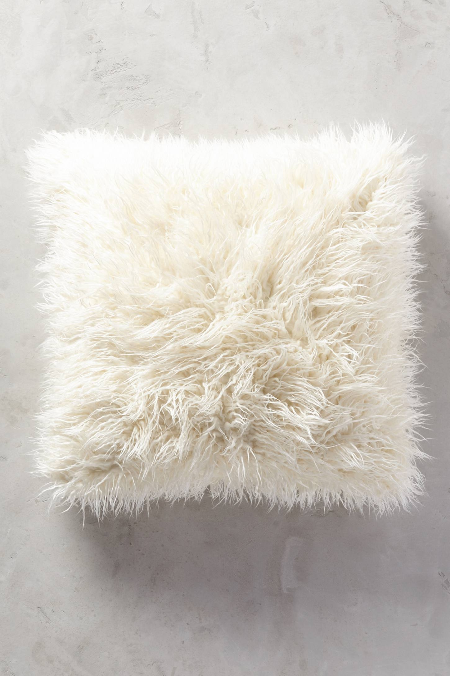 Shaggy pillow from Anthropologie